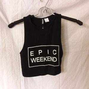 H&M Tops - H&M divided Epic Weekend Crop Top Size XS